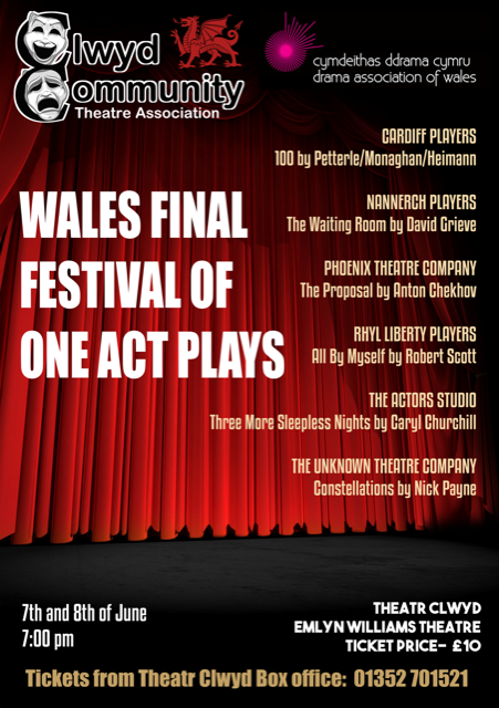 Wales Final Festival of One-Act Plays 2019